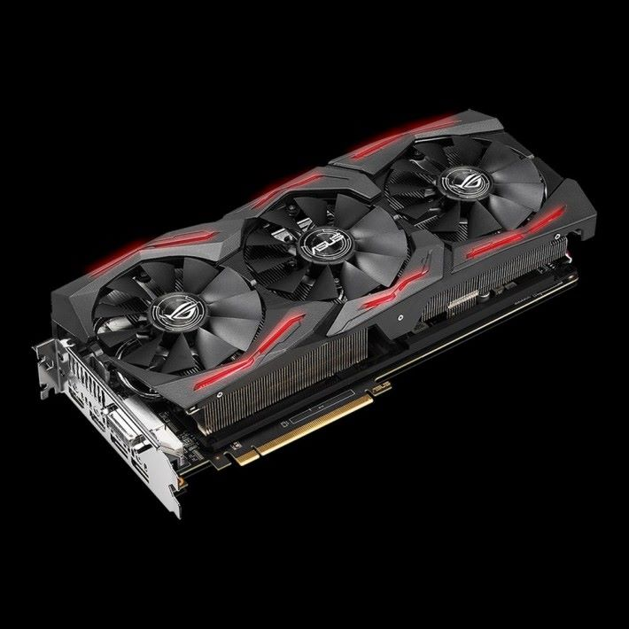 ASUS ROG STRIX RX Vega 56 O8G Gaming 顯示卡,設計其實與 Vega 64 一樣。