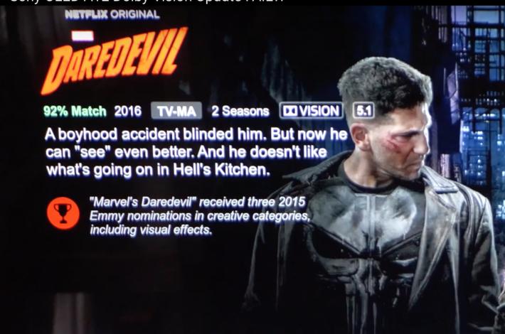 .有用戶拍攝了升級軟件過程,升級後開啓 Netflix 後,支援 Dolby Vision 的影片會有指示。