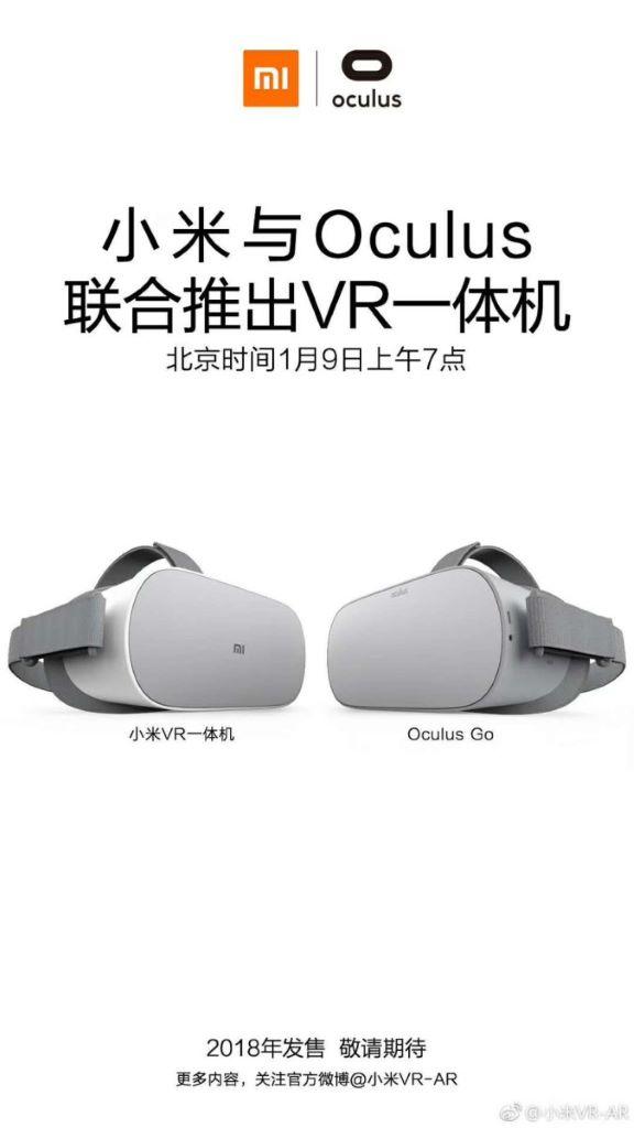 Oculus Go 將以小米的品牌進軍中國市場。