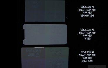 iPhone X、Note8 連續「使用」22日後屏幕出現烙印