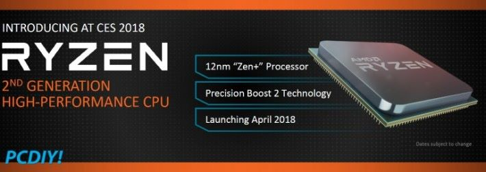 四月份的 Zen+ 將採用 12nm 製程。