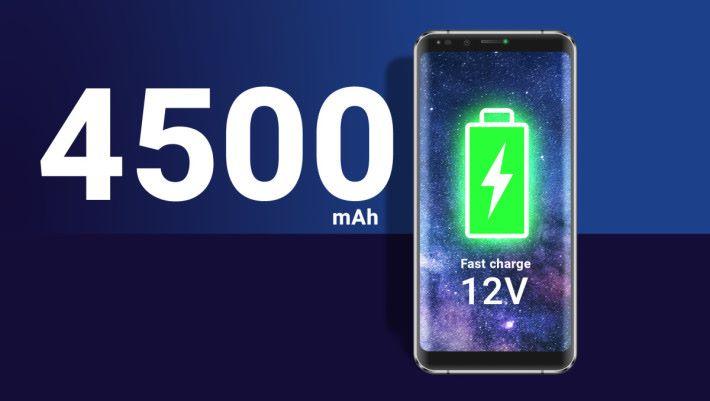 4500mAh 大電池。