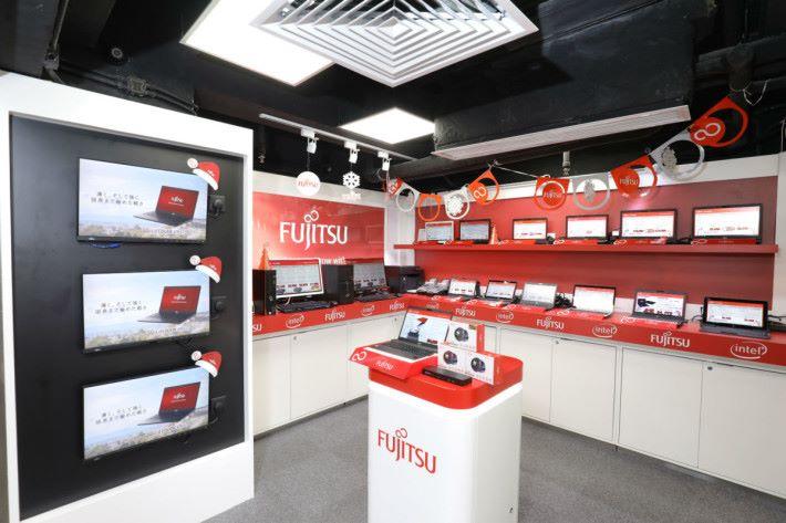 旺電 Fujitsu 專門店售賣多款 Notebook 電腦。