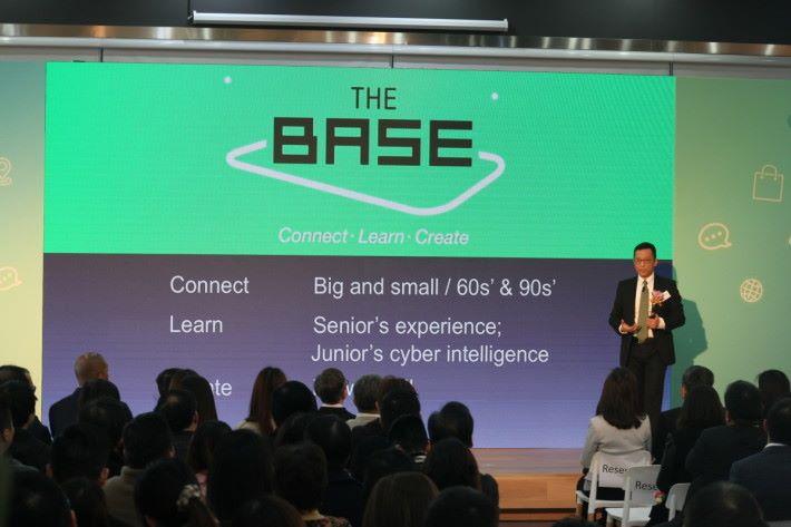 王維基稱,The Base不只為年青人而設,亦為成年人,將兩個世代的專長結合,推動電子商務。