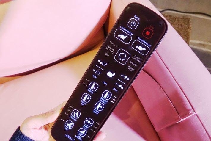 控制器以觸控式設計,在燈光柔和的環境下,仍能清晰作設定。