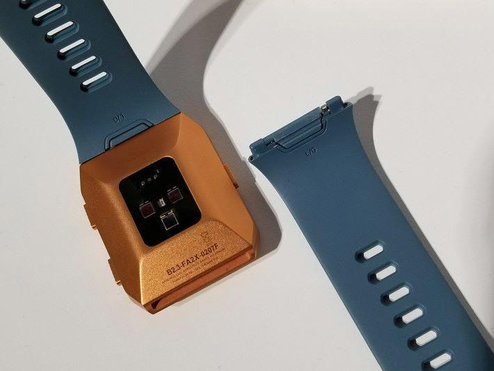 快拆式錶帶可隨喜好而更換不同款式。