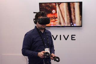 「Vive Wireless Adaptor」實際使用時的效果。