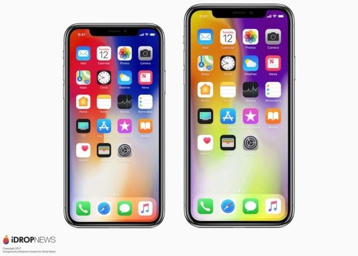 iDropNews 對於今年兩部 iPhone X 的構想圖