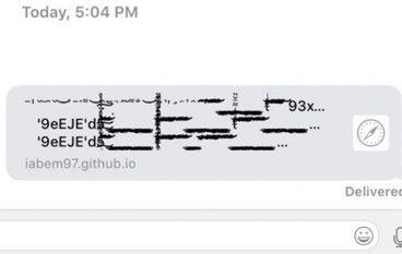 Message App 揭漏洞 寄出一條連結即可癱瘓 iPhone