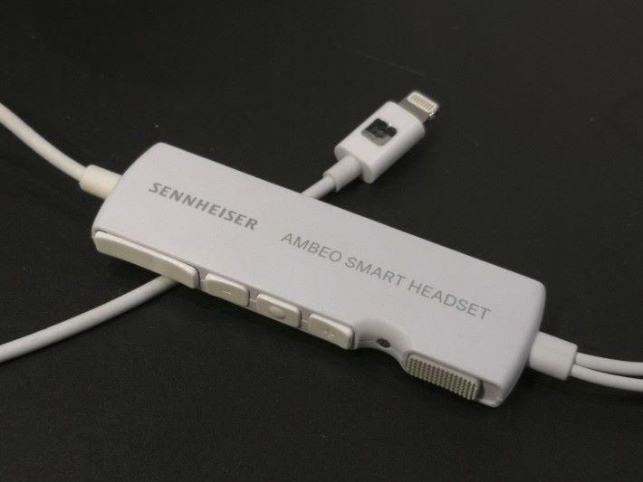 Sennheiser AMBEO Smart Headset 的各按鈕。