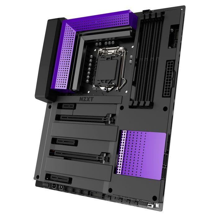 兩個透孔的紫色蓋罩分別是上方的 PCH,和下方的 VRM。