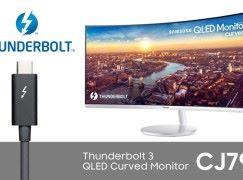 支援 Thunderbolt 3 Samsung 全新 QLED  弧面顯示器