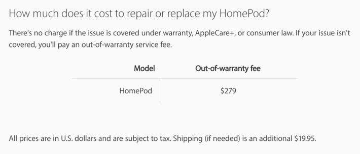 網頁列明沒有保養的話維修費要港幣 $2,180 ,運費還要加多 $156 。
