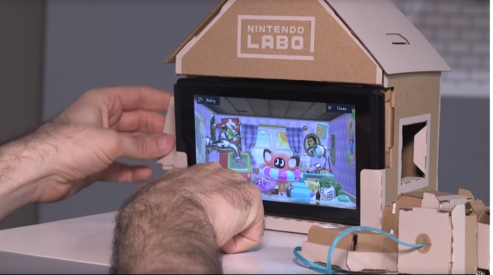 遲遲未公布玩法的「屋子」,展示可以用其他零件與房間的動物互動。