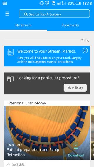 選擇專科後, App 就會提供不同該專科的手術。