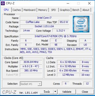 使用 380 BCLK OC Profile,可順利到達 380MHz BCLK 外頻。