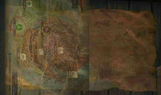將現有地圖重疊後更可發現新地圖為「龍結晶之地」後更深的地區。