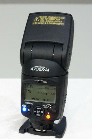 最新發表的 Speedlite 470EX-AI 閃燈。