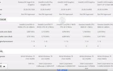 再有 Cannon Lake CPU 規格曝光 時脈只有 1.1GHz?!