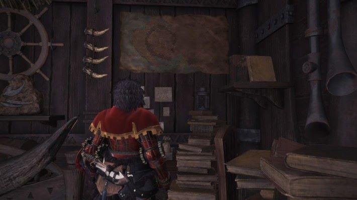 在房間中可以見到主線任務只為探索了一半地圖