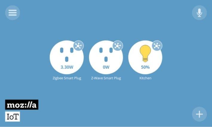Things Gateway 支援智能插座、可變色燈泡或其他感測產品。