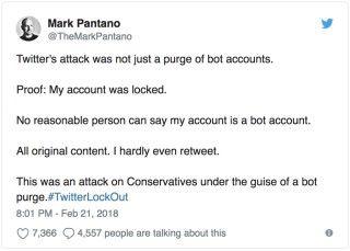 有用戶表示自己甚少轉貼,但 Twitter 帳戶就被凍結了。