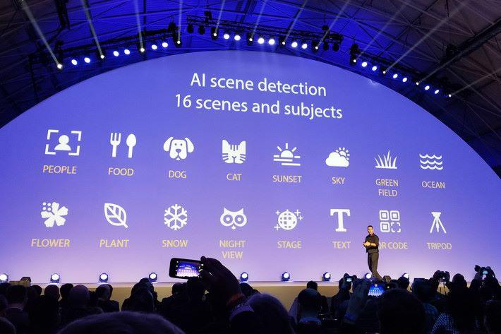 導入 AI Camera 功能,會因應場景而提供最佳拍攝模式。
