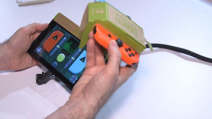 Nintendo Labo 的「遙控車」可透過 Joy-Con 上的 IR 攝影機拍攝影像