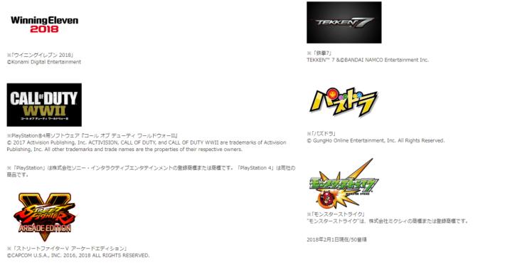 目前 JeSU 會發行六款遊戲的執照,日後會和遊戲商商議後增加種類。