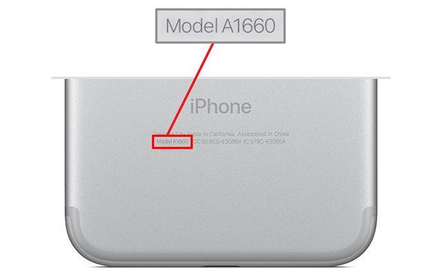 受影響的 iPhone 7 機背標示型號為 「Model A1660」