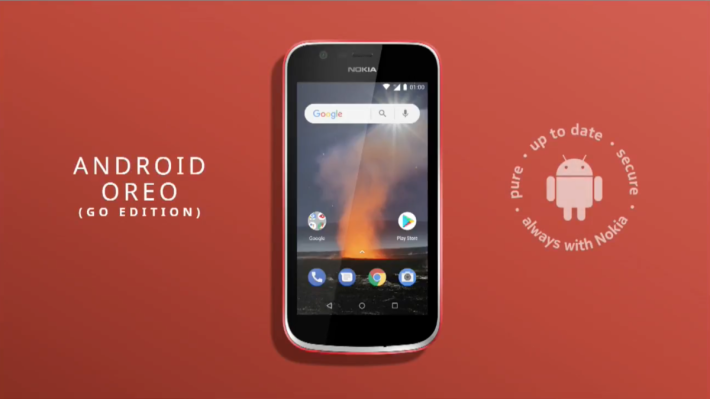 Nokia 新款入門機有 Nokia 1。 nokia05 Nokia 1 運行 Android Oreo 的 Go Edition。