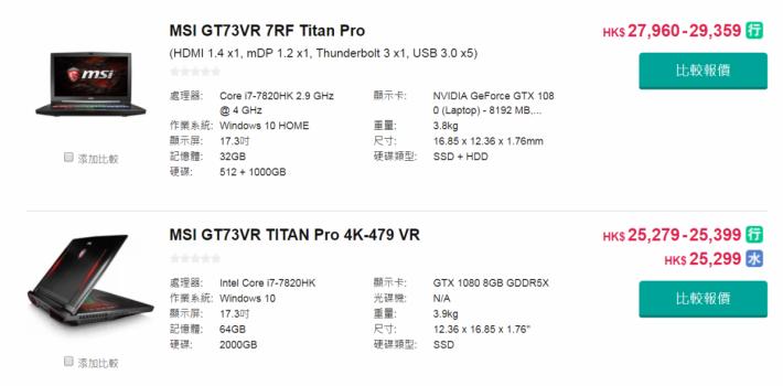 不知道這部 MSI Notebook 型號是甚麼,但 i7-7820HK 的 MSI GT73VR 賣二萬多元,i9-8950HK Notebook 應該至少 3 萬元吧?