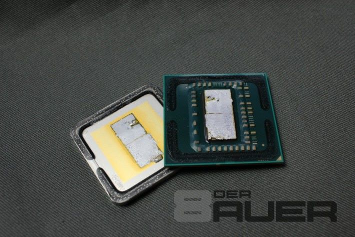 上一代 Ryzen 7 1700 採用錫焊。Source:De8auer