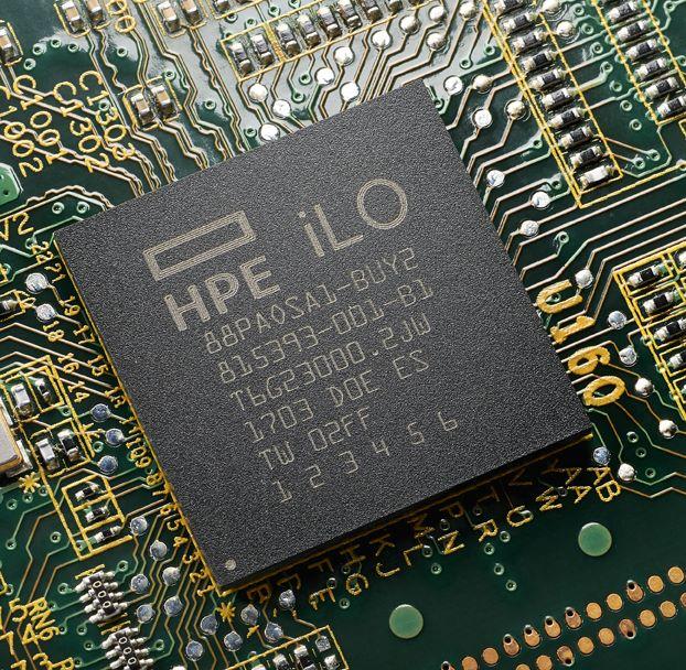 HPE 的「silicon root of trust」將保安技術直接嵌入 iLO 晶片,在晶片上建立不可被刪改的軟件指紋,防止伺服器在韌體軟件指紋不匹配的情況下被啟動。