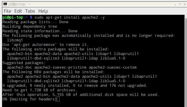 完成網頁伺服器的安裝後,網頁服務就可以開始。