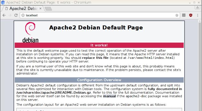 輸入「 http://localhost/ 」網址,可測試Apache運作情況。