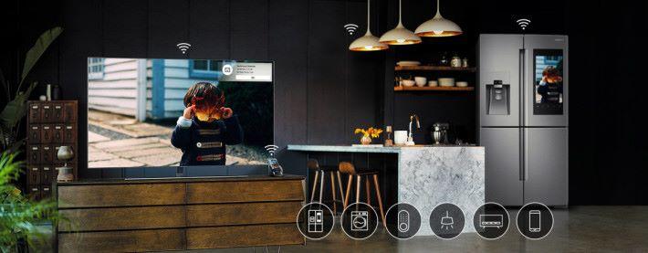 透過 Bixby 智能助理接連不同的智能家電產品。