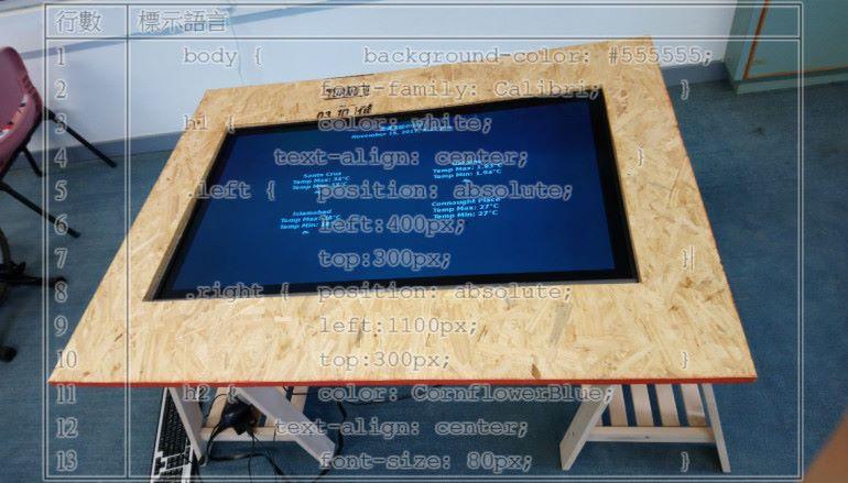 展示資訊互動桌子(二)