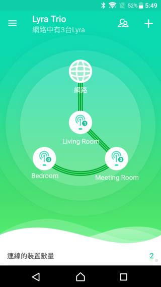 使用 App 的 Step-by-Step 設定精靈,即可輕易完成初次設定,App 主介面將顯示網絡地圖及每台的連線裝置數目,一目了然。