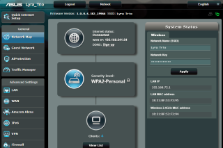 Lyra Trio 提供完整網頁版介面,保留 ASUS 路由器的介面設計及功能,比其他 Mesh Wi-Fi 套裝全面。
