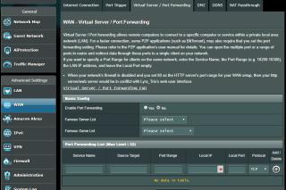 提供齊全的 Port Forwarding、DMZ 等功能,家中有 NAS 亦可以進行全套設定。