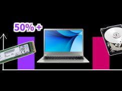 SSD 廠商批發價下跌 Notebook SSD 搭載率將突破 50%