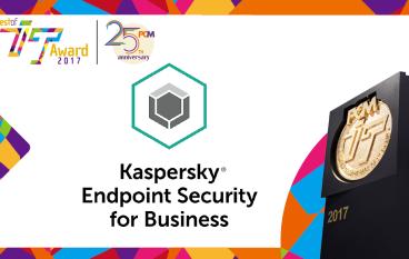 2017 至「專」終端安全防護軟件大獎 Kaspersky Endpoint Security for Business ADVANCED