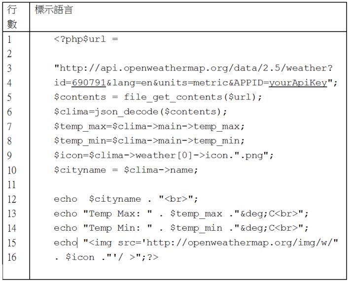 Code3 獲取天氣資訊程式碼