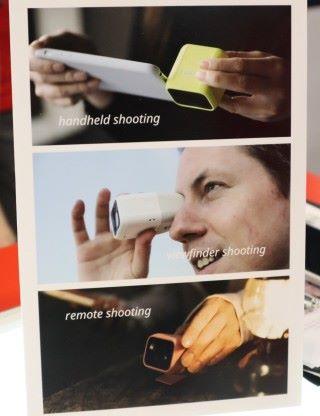初步可見 Lens-Q 可連接手機拍攝、用機內的觀景器或遙控拍攝。