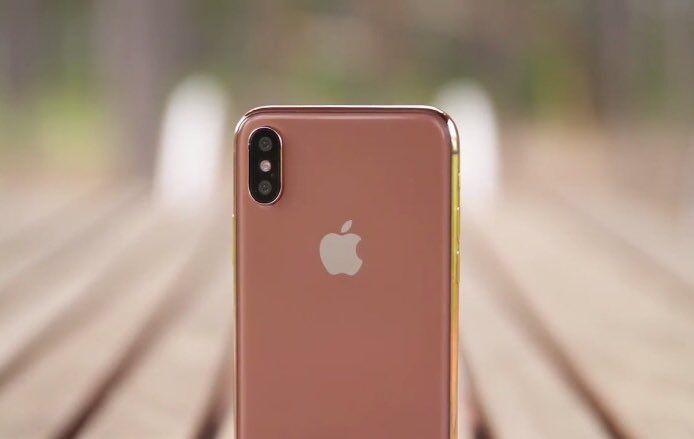 全新 Blush Gold 版 iPhone X