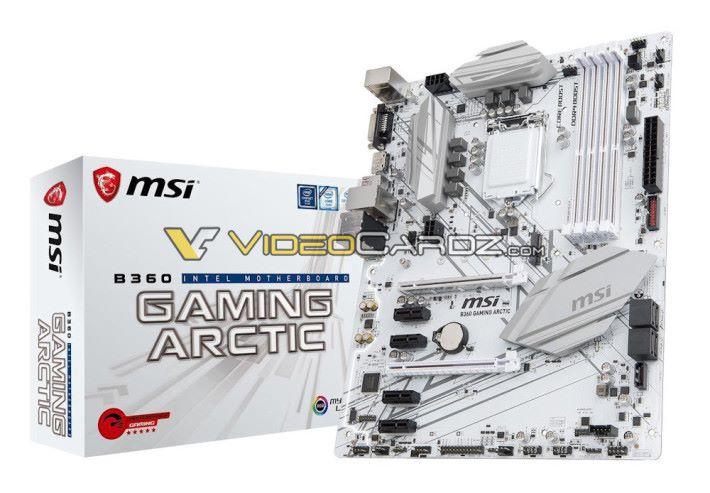 MSI B360 Gaming Arctic,白色真的很吸引呢~