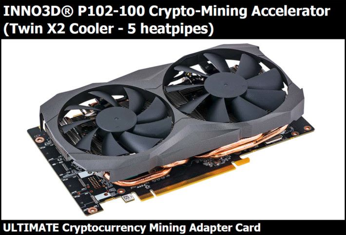Inno3D P102-100 掘礦專用卡。Source:Crypto Mining Blog