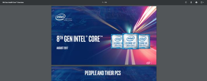 輕鬆找到Intel發表會的PDF簡報。