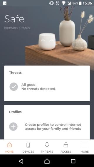 1. CUJO 手機 App 主頁,目前所有裝置都安全。